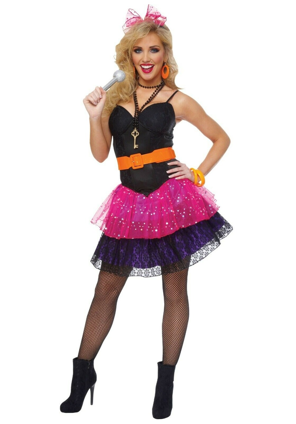 5 colours 80s fancy dress Oversized Bow 80s Alice Band,Pop Star Bow,Hen Party