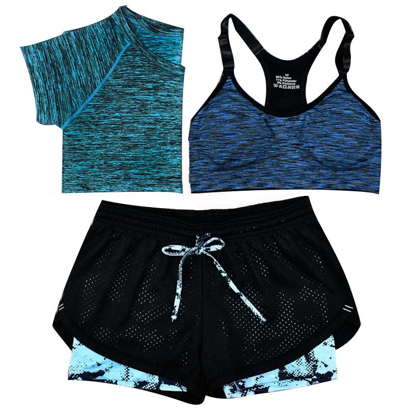 Sexy 3 Piece Outfit Summer Clothes For Women Spaghetti Strap Tie Up Crop Top+ Short +bra Three Piece Matching Set Tracksuit
