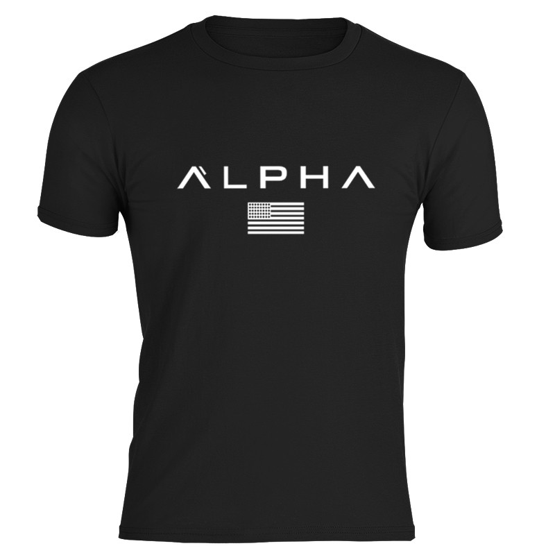Fashion 2018 High Quality Off Black Mens TShirts Alphalete Tees for Men Alpha   Shirt   hot Print   T  -  shirt   Muscle Tee Funny   T  -  shirts