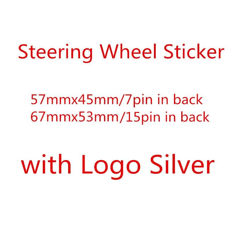 Высококачественный Хромированный серебристый ABS 3D V Автомобильный руль логотип значок эмблема наклейки аксессуары автостайлинг 074