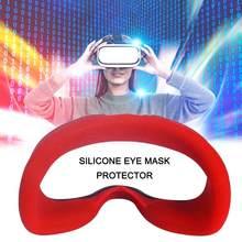 1pc macio anti-suor silicone máscara de olho capa para óculos de bloqueio de almofada oculus luz capa de olho vr anti-vazamento rosto unisex que b4z4