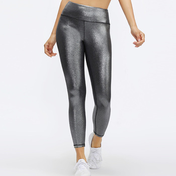 2020 Women's Matte Coated Texture Legging Workout Pants with skinny stretch leggings