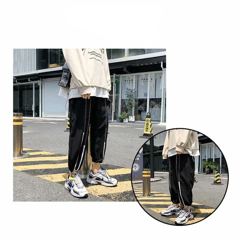 Summer Loose Casual Ankle-Length Pants Thin Men`s Women Jogger Pants Fashion Teens Boys Girls Joggers Sports Striped Trousers (6)