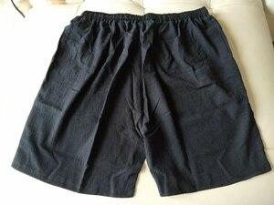 Image 4 - Mens Big Shorts Plus Size 11XL 12XL 13XL 14XL Summer Linen Large Stretch Sports Casual Loose 60 Black Shorts