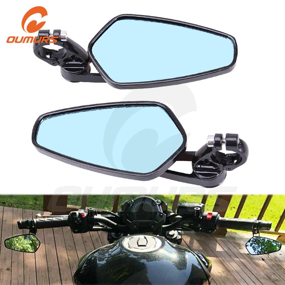 Universal Motorcycle Rearview Side Mirrors Fit Honda Kawasaki Yamaha Harley Bolt