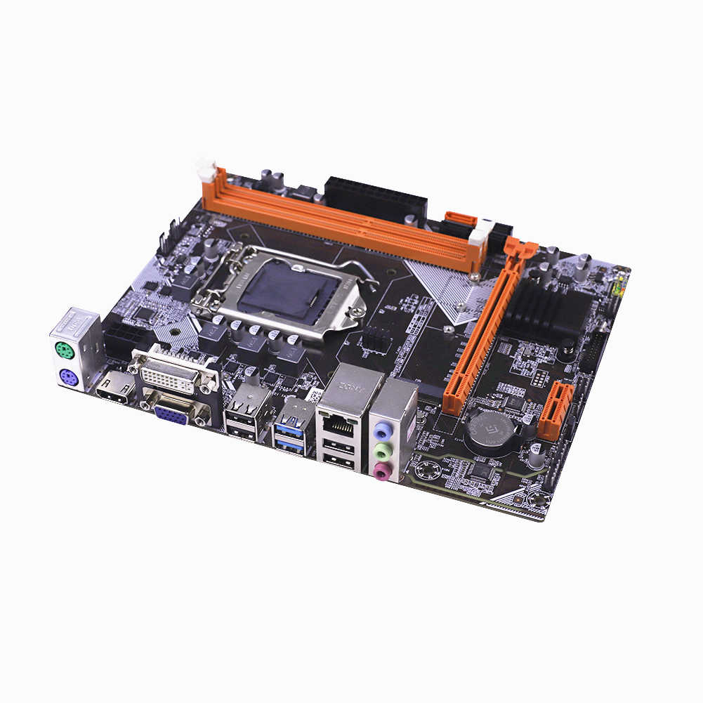 Bilgisayar anakartı B75 LGA 1155 soket M.2 NVME USB 3.0 SATA III anakart DDR3 RAM Intel LGA 1155 için I3 I5 i7 Xeon CPU