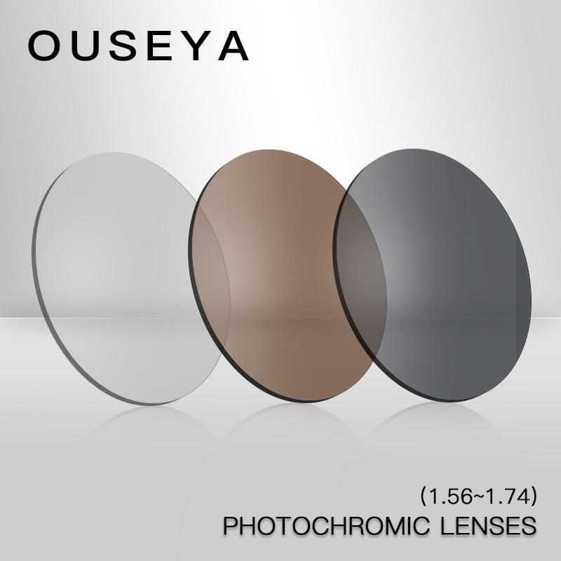 1.56 1.61 1.67 1.74 Index Photochromic Lenses For Vision Diopter Myopia Optical Prescription Lens CR-39 Resin Aspherical UV400