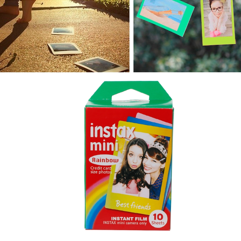 10 Sheets Rainbow Lace Instant Photo Paper Mini7 8 25 70 90 Polaroid Camera Film  X6HB