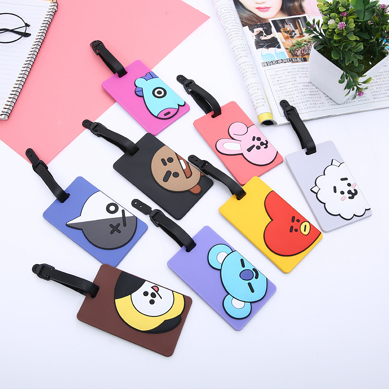 Animal Cartoon Luggage Tag Silica Gel Cute Travel Accessories Suitcase ID Address Holder Baggage Boarding Tags Portable Label