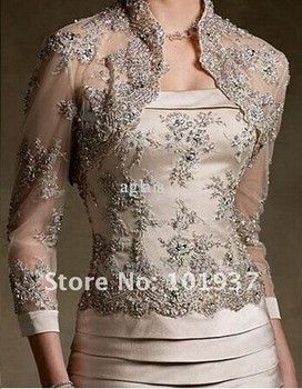 custom-made appliques beading vestido de festa 2016 new design sexy free shipping long Mother of the Bride Dresses with jacket 2