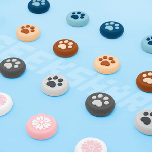 Image 1 - New Cat Paw Sakura Thumb Stick Grip Cap Joystick Cover For Sony Playstation Dualshock 4/3 PS4/PS3/Xbox 360/Switch Pro Controller