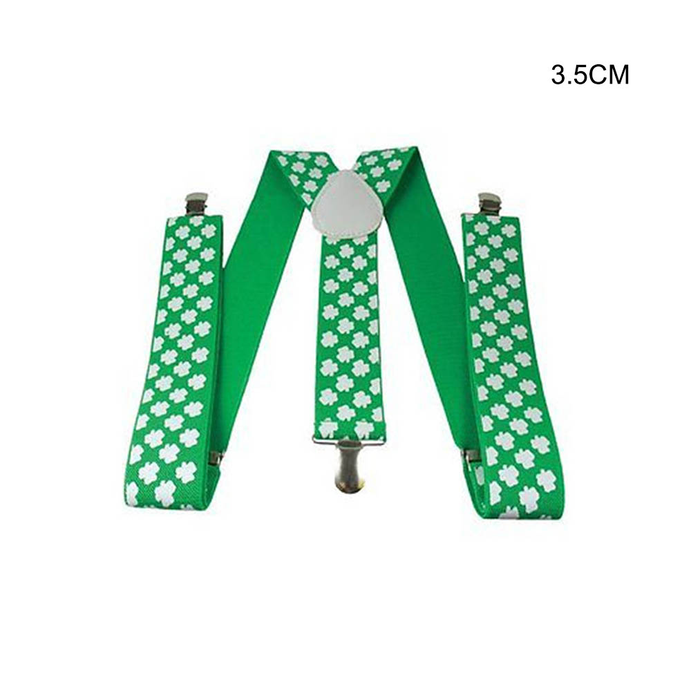 Irish Clover Belt Adult Suspenders Unisex Clip-on Suspenders With Adjustable Braces Apparel St. Patrick's Day Accessories