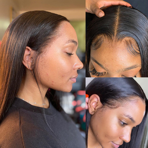 Short Bob Wig 13x1 Lace Frontal Straight With Baby Hair Brazilian For Black Women Hd Full Lace Front Human Hair Wigs Pre-plucked