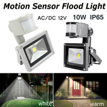 Reflectores LED 10W CA/CC 12V PIR Sensor de movimiento seguridad alto brillo impermeable IP65 iluminación al aire libre(China)