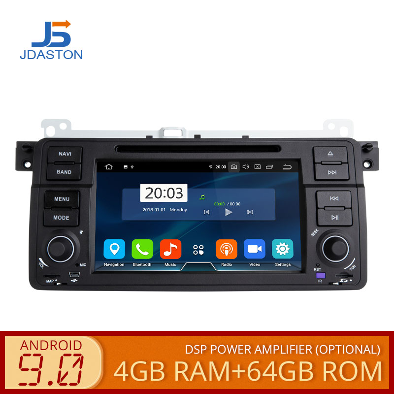 JDASTON 1 DIN Octa Core 4GB+64G Android 9.0 Car DVD Player For BMW E46 M3 Rover 3 Series Multimedia Video GPS Navigation Radio image
