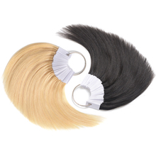 30 Pcs Hair Color Rings Human Hair Charts Swatches Testing Color Samples For Salon Hairdresser Dyeing Practice