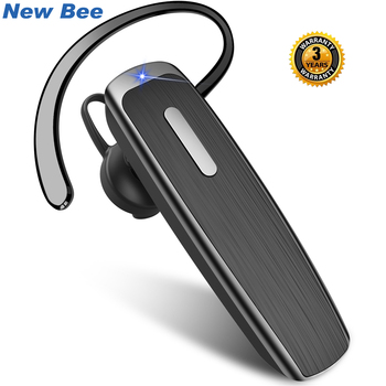 New Bee B30 Bluetooth Earphones 22Hrs Talking Wireless Headphones with Noise Cancelling Mic Handsfree Earpiece Headset for Phone