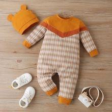 Детский хлопковый комбинезон с длинным рукавом на возраст 0
