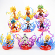 9 pz/set Dragon Ball Z Action Figures Goku Gohan Vegeta Zamasu Broly Super Saiyan Freezer Effetto di Energia Anime DBZ giocattoli di modello