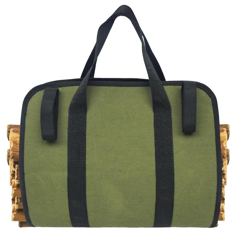 Supersized Canvas Firewood Wood Carrier Log Camping Outdoor Holder Carry Bag Protect Shoulder Handbag Canvas Case