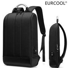 Деловой Тонкий рюкзак для ноутбука eurcool мужской офиса 156