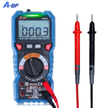 A-BF multímetro digital verdadeiro rms ncv inteligente ac dc faixa automática voltímetro amperímetro capacitância resistência tester dados de retenção