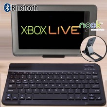 Portable Wireless Bluetooth English Keyboard for Barnes & Noble NOOK HD + 9 Inch Tablet Rechargeable Keyboard for Laptop