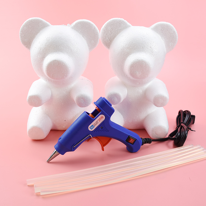 Teddy Bear Of Roses Valentine's Day Present Diy Handmade Scrapbooking Wedding Bridal Accessories Clearance Foam Mould Wholesale