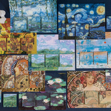 Bloc-Notes Vintage Van Gogh, étiquette autocollante, pour planificateur, fournitures scolaires et de bureau, 60 pièces