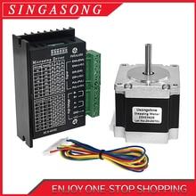 Motor de passo usongshine, motor de passo nema 23 23hs5628 motor 57 2.8a com condutor de motor de passo nema tb6600 4a nema17 23 para cnc e impressora 3d,