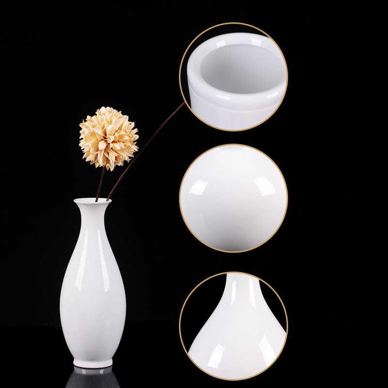 Moderne Reine Weiß Keramik Vase Ornamente Hause Wohnzimmer Tisch Figuren Dekoration Hotel Büro Desktop Zur Handwerk Kunst