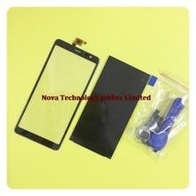 Wyieno Original Black Touchscreen For BQ Mobile BQ 6010G Practic 6010g Touch Screen Digitizer Glass panel lens glass LCD Display