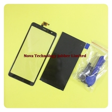 Wyieno original preto tela sensível ao toque para bq móvel BQ 6010G practic 6010g digitador da tela de vidro do painel lente vidro display lcd