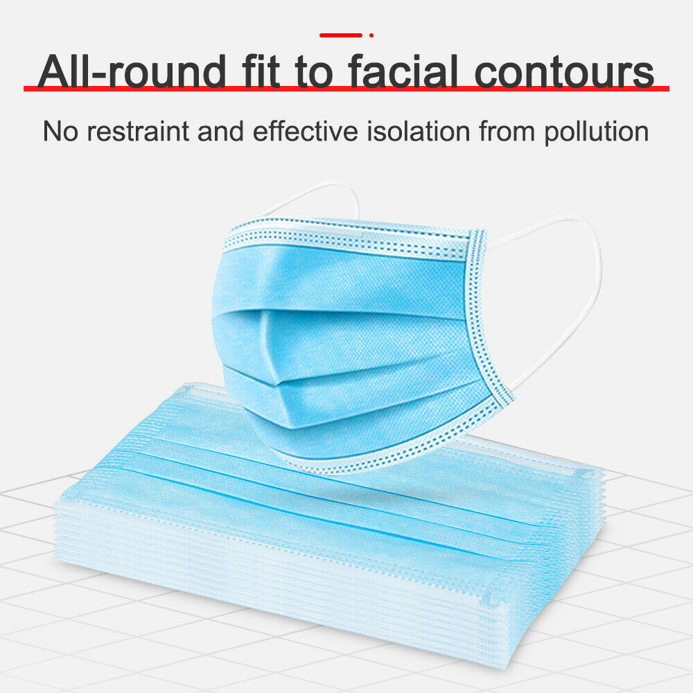 Dustproof Facial Protective Cover Masks Disposable Protective Mask 3 Layers Maldehyde Prevent Bacteria Anti-virus Mask