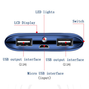 Image 3 - 30000 mAh แบตเตอรี่ PoverBank 2 USB LED Powerbank ชาร์จโทรศัพท์มือถือแบบพกพาสำหรับ Xiao Mi Mi iPhone 8 samsung