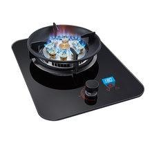 5000w fogão a gás único fogão a gás desktop fogão quente embutido casa natural cronometrado gás liquefeito