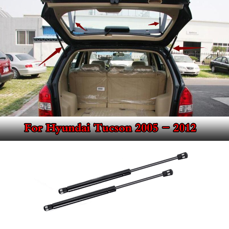 2pcs Rear Glass Auto Gas Spring Struts Lift Supports Rods Fits for <font><b>Hyundai</b></font> <font><b>Tucson</b></font> <font><b>2005</b></font> 2006 2007 2008 2009 Car <font><b>accessories</b></font> image