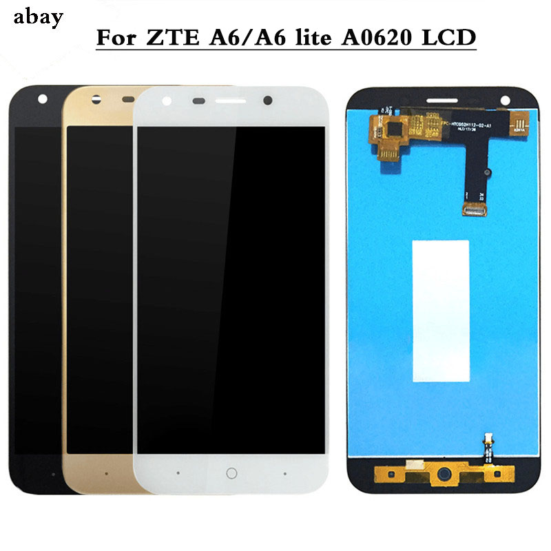 100% Tested For ZTE Blade A6/A6 Lite LCD Display And Touch Screen Assembly Repair Parts  For ZTE Blade A0620 Black/White/Gold