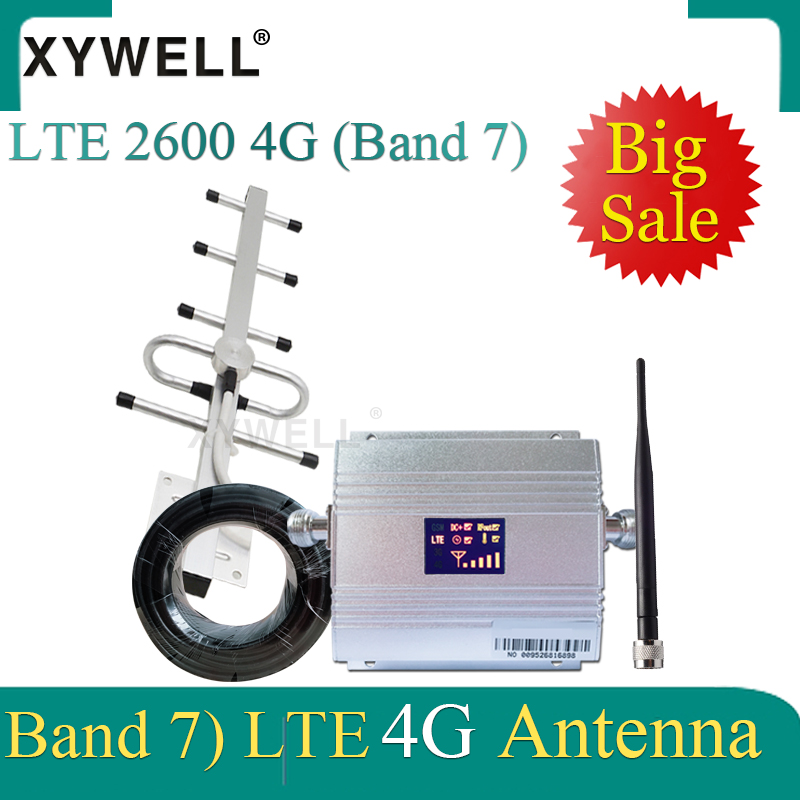 70dB Gain 2600mhz FDD LTE Band7 4g Signal Booster 2600 Cellular Amplifier GSM Signal Repeater LTE 2600 4G Mobile Network Booster