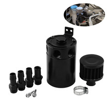 Детали для двигателя автомобиля Универсальный 3-Порты и разъёмы компактный тупик маслоуловитель комплект фильтрующих пластин воздушно-масляного сепаратора мебель для куклы черный# G10