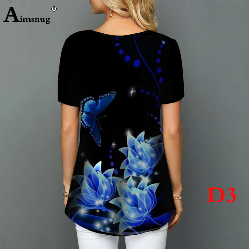 Hff13f90c46d642de8c985f6f6cb06b64I - Plus size 4xl 5xl Women Fashion Print Tops Round Neck Short Sleeve Boho Tee shirts New Summer Female Casual Loose T-shirt