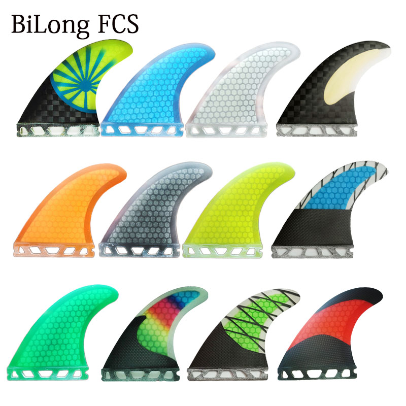 FUTURES compatible PERFORMANCE CORE surfboard THRUSTER FINS Yellow with carbon