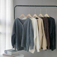 Toppies Winter Strickjacke pullover Frauen Mantel Faux Pelz Gestrickte Pullover Koreanische Taste Strickjacke Weiche Warme Frauen Tops CT001