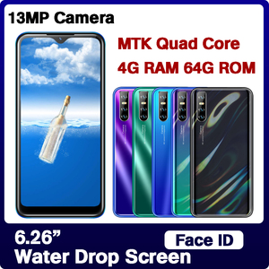 Water Drop Screen 4G RAM 64G ROM Quad Core 9C Smartphones Cellphones Face Unlocked Mobile Phones Android Celulars fast shipping