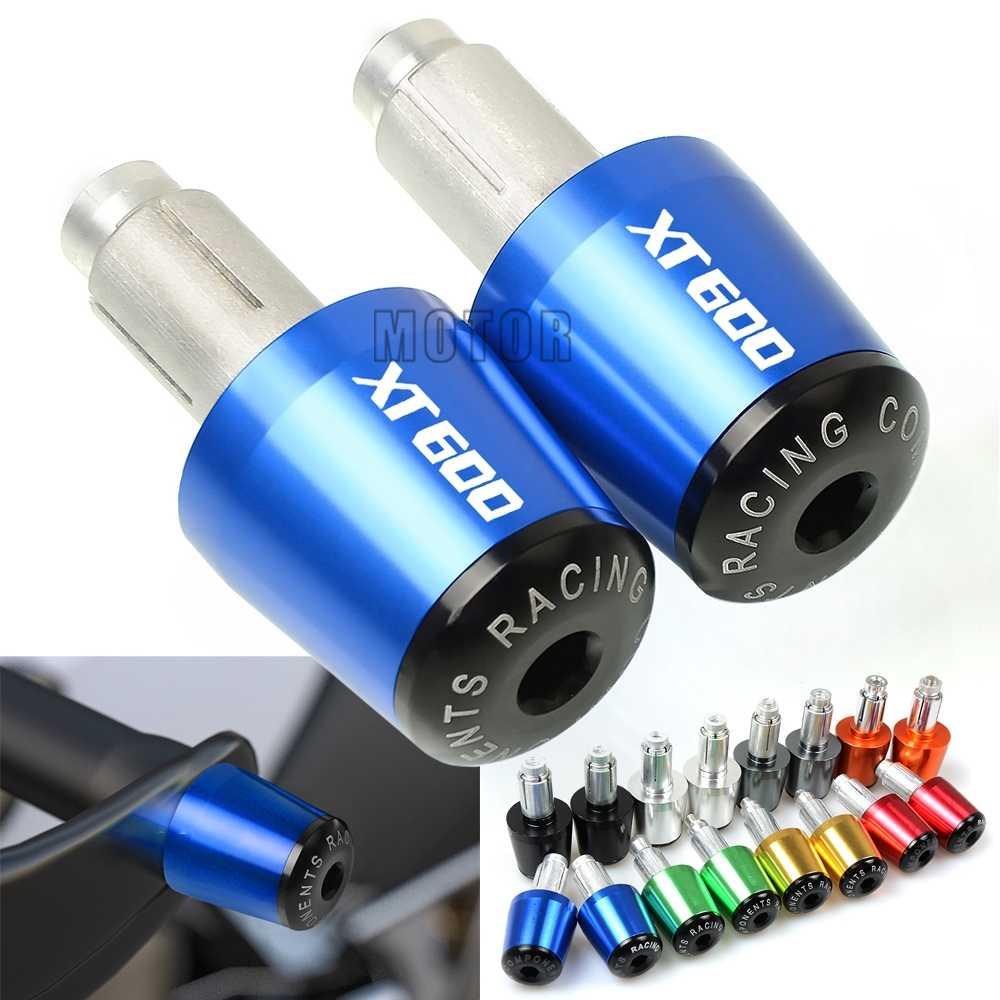 """สำหรับ Yamaha XT600/XT600E/XT600Z/XT600ZE TENERE รถจักรยานยนต์ 7/8 """"22mm Handlebar Grips Hand Bar ปลายจับปลั๊ก XT 600 E Z ZE"""