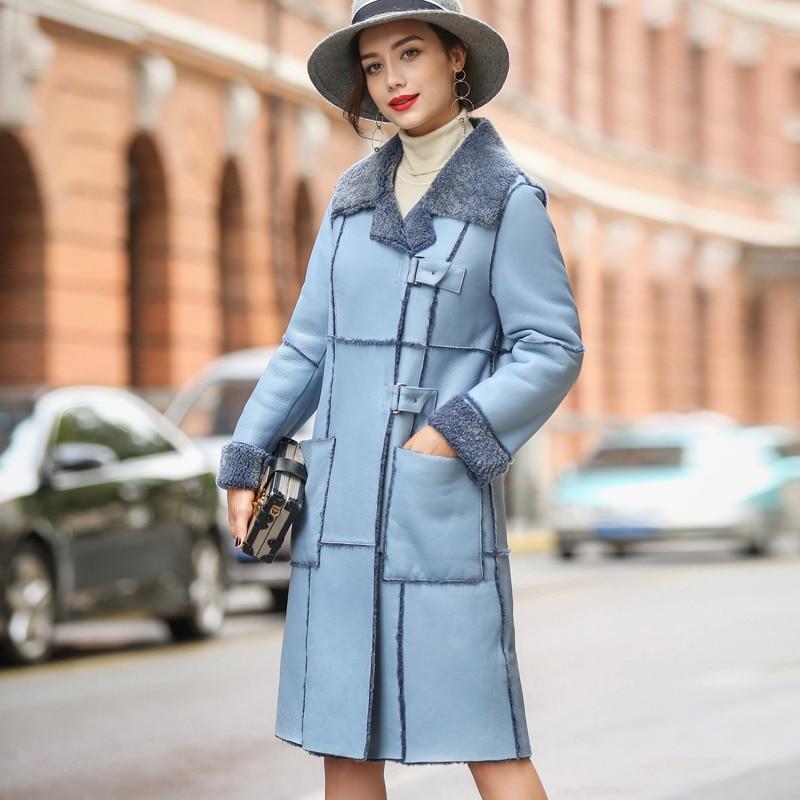 Real Fur Coat Women Sheep Shearling Winter Coat Women Genuine Leather Jacket for Women Clothes 2020 Manteau Femme 1816 YY943