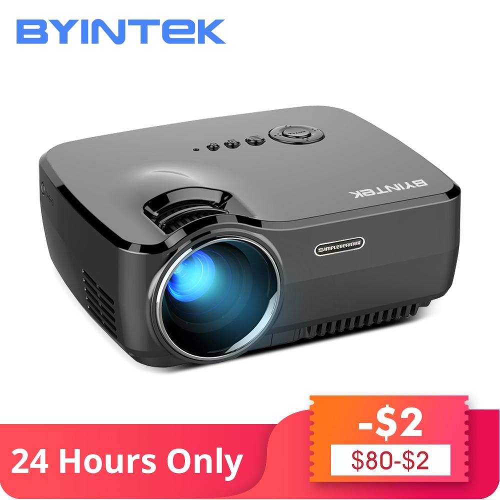 BYINTEK Marca CÉU GP70 Portátil Mini LED de Vídeo Cinema Digital HD Projetor Home Theater Beamer Proyector