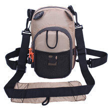 Маленькая нагрудная сумка цвета хаки для ловли нахлыстом легкий