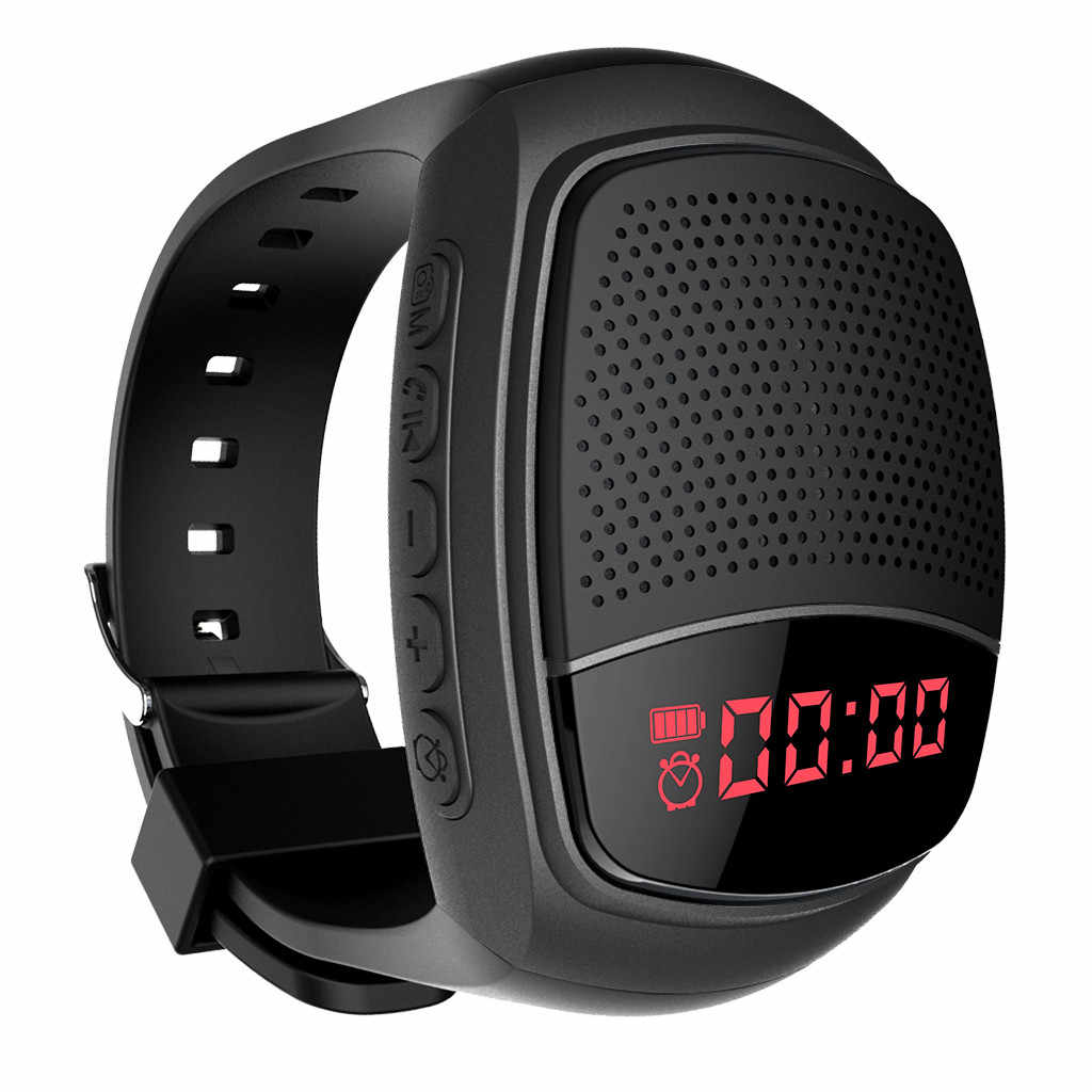 25 # Smart Bracelet Band dengan Nirkabel Kebiruan Speaker Olahraga Watch AUX Portable Mini Pergelangan Tangan Stereo Speaker untuk IOS Android