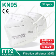5-200PCS KN95 Mascarilla FPP2 Homologada 5 Layers FPP2 Adult Protective Mask CE Approved Respiratory KN95 Masks Filter FFP2mask